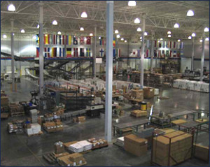 Interior view of International Pharma Packaging & Distribution's distribution facility.
